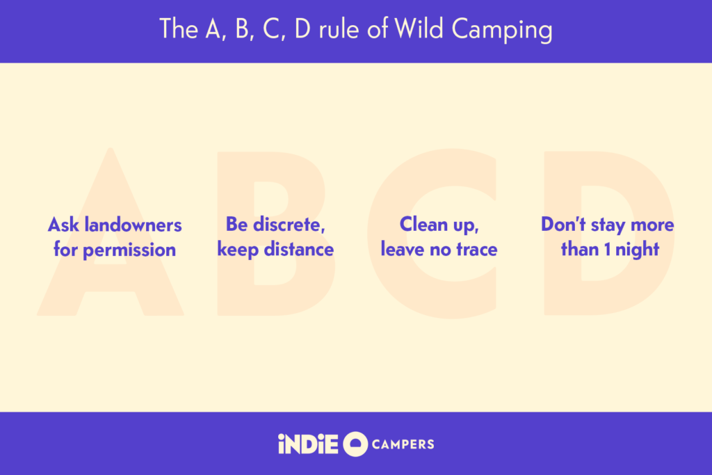 wild camping rules